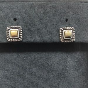Brighton Stud Earrings gold & silver